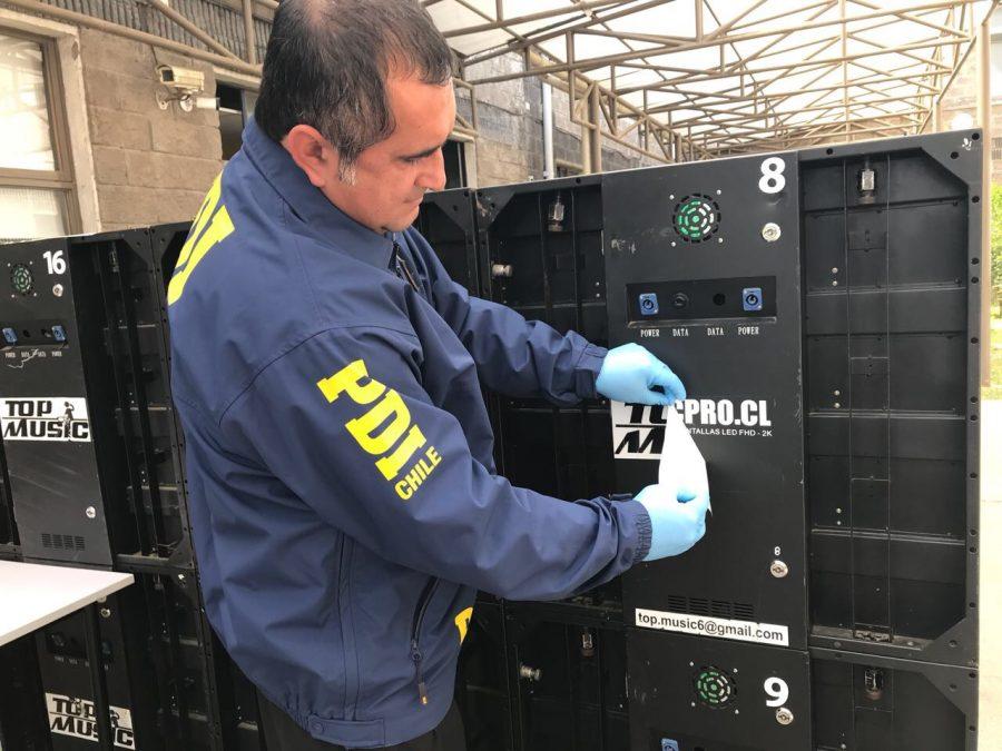 PDI recupera 18 pantallas led que habían sido robadas en Machalí