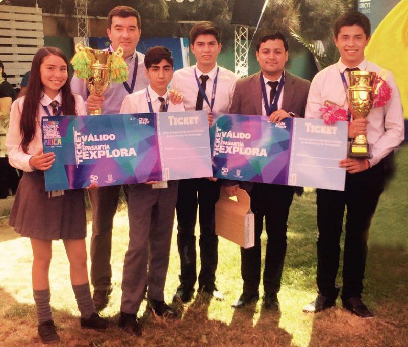 Estudiantes de O'Higgins ganan Primer Lugar de Congreso Nacional de Ciencias de Explora CONICYT