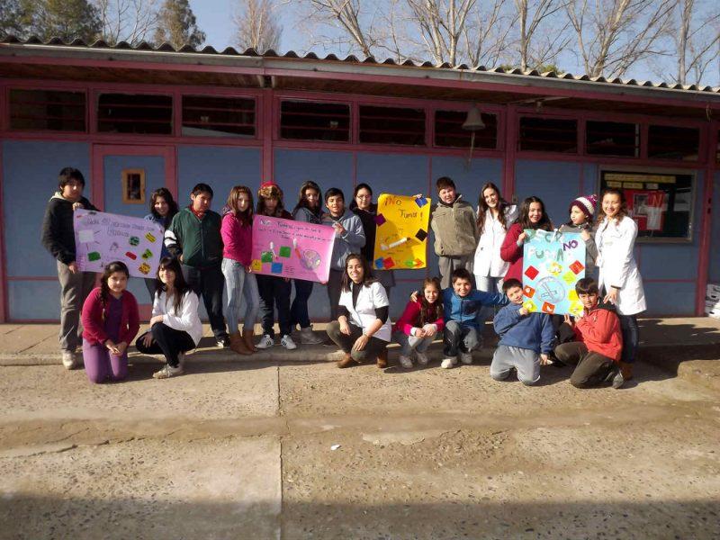 Universidad de O'Higgins realizó lanzamiento de proyecto intercultural que involucra a Colegio Santa Teresa de Machali.