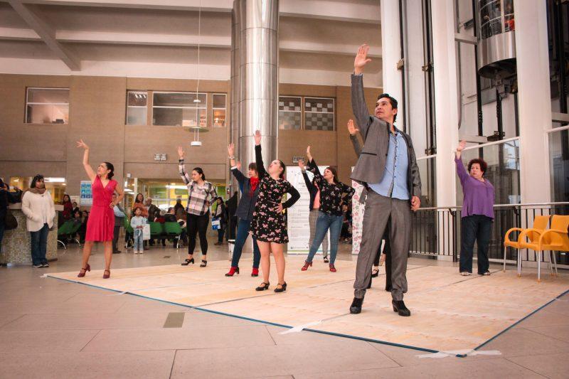 Flashmob de baile Flamenco llegó al Hospital Regional en apoyo de campaña contra el Cáncer