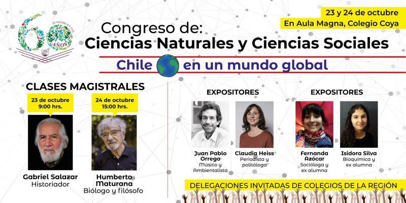 Gabriel Salazar y Humberto Maturana serán parte del Congreso de las Ciencias del Colegio Coya