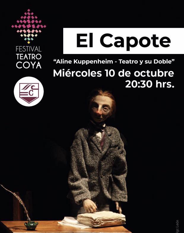 """Con la obra """"El Capote"""" de Aline Kuppenheim se inicia el Festival de Teatro Coya"""