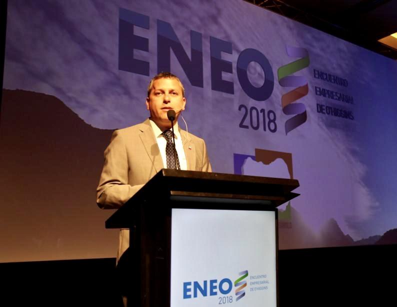 ENEO 2018: Intendente Masferrer reafirma importancia de la alianza público-privada para que O'Higgins siga en la senda del crecimiento