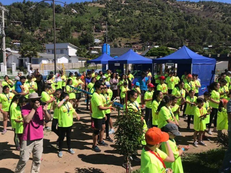 Runners disfrutaron de los hermosos paisajes de Coya