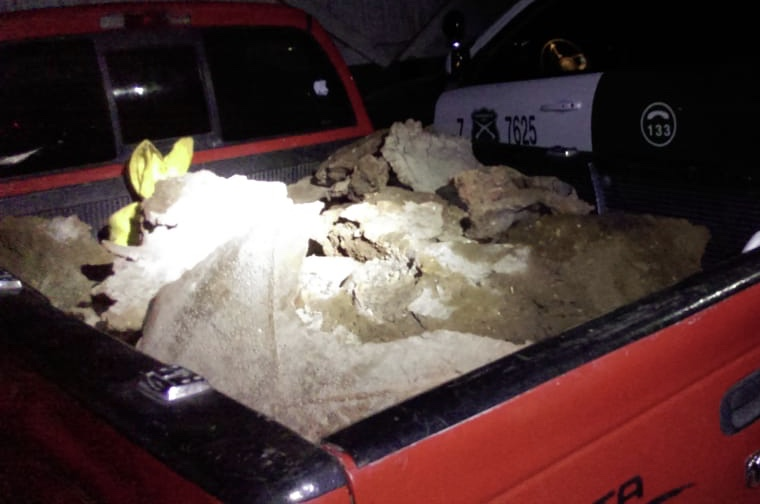 Detienen a chofer de camioneta que llevaba 1800 kilos de rebabas de cobre robados en El Teniente