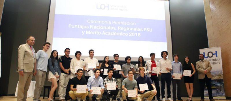 Distinguen a alumnos que obtuvieron Puntaje Nacional en la PSU