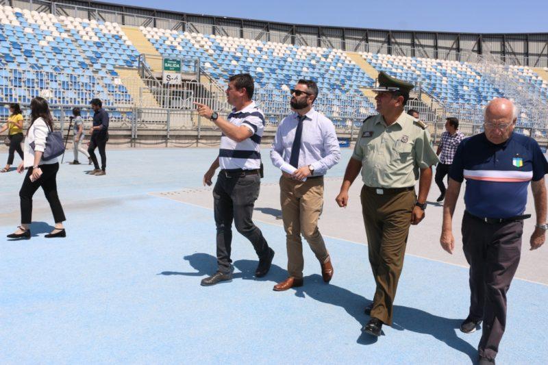 O'Higgins – U. de Chile: autoridades fiscalizan Estadio El Teniente y aprueban medidas de seguridad
