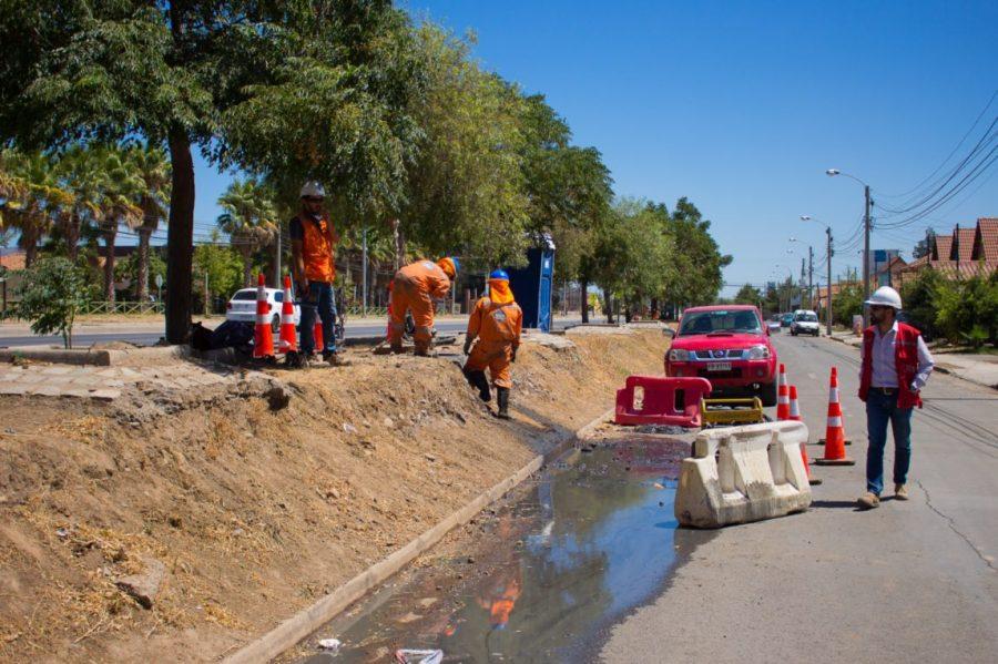 Inician trabajos de conservación del sistema de aguas lluvias en Machalí