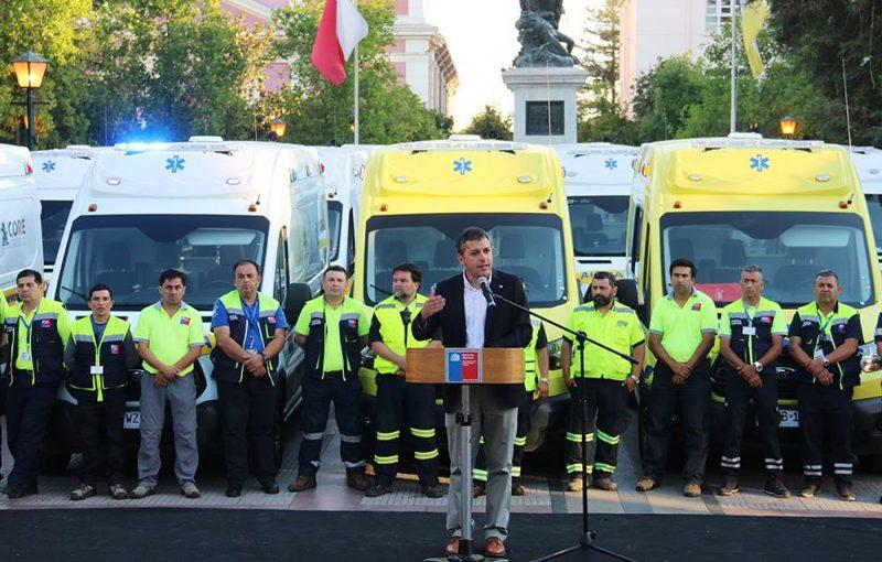 Cuatro comunas de la región recibirán ambulancias gracias a convenio del Gobierno Regional con la MURO'H