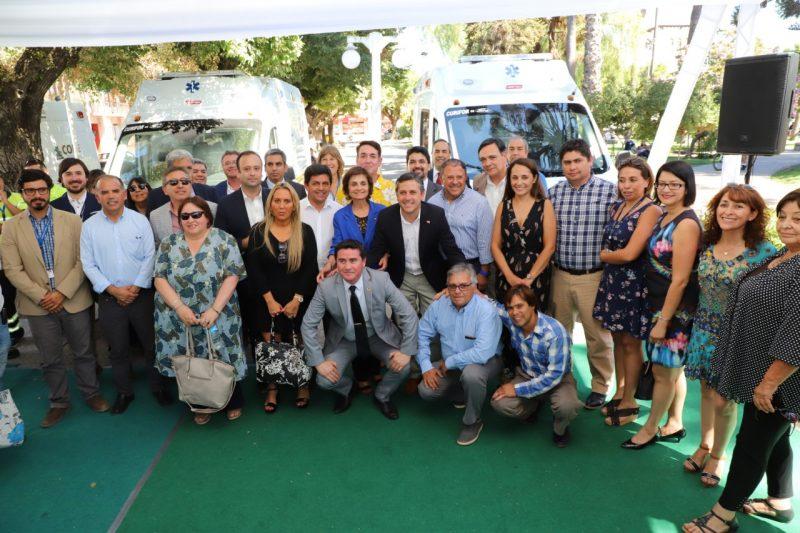 O´Higgins: Nuevas ambulancias llegan a la red de salud de la región
