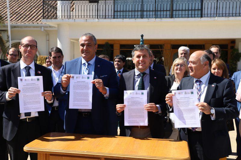 Intendente Masferrer firmó convenio de cooperación con regiones del Maule, Ñuble y Bio Bío