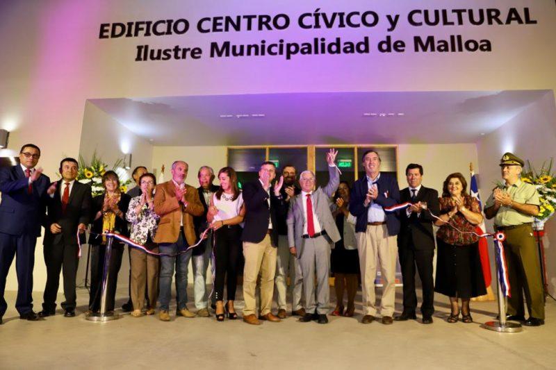 Malloa: autoridades inauguran el nuevo Centro Cívico de la comuna