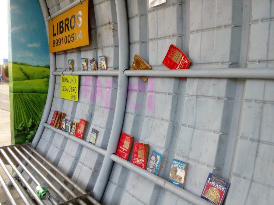 Machalí: paraderos de micro aparecen con iniciativa de intercambio de libros