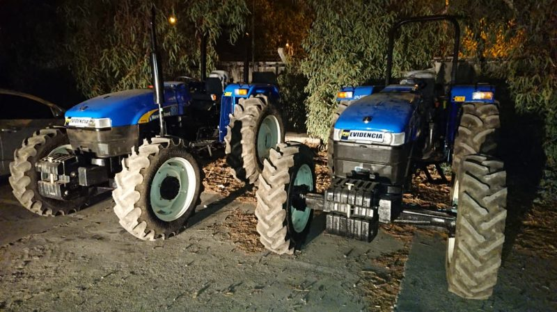 Mostazal: PDI recupera dos tractores avaluados en $30 millones