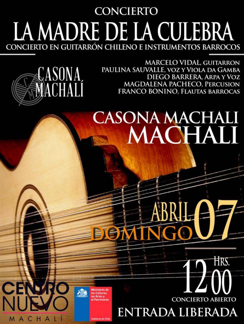 Folclore, corridos y un homenaje a Oscar Castro con instrumentos barrocos presentará el quinteto La Madre de la Culebra en Machalí