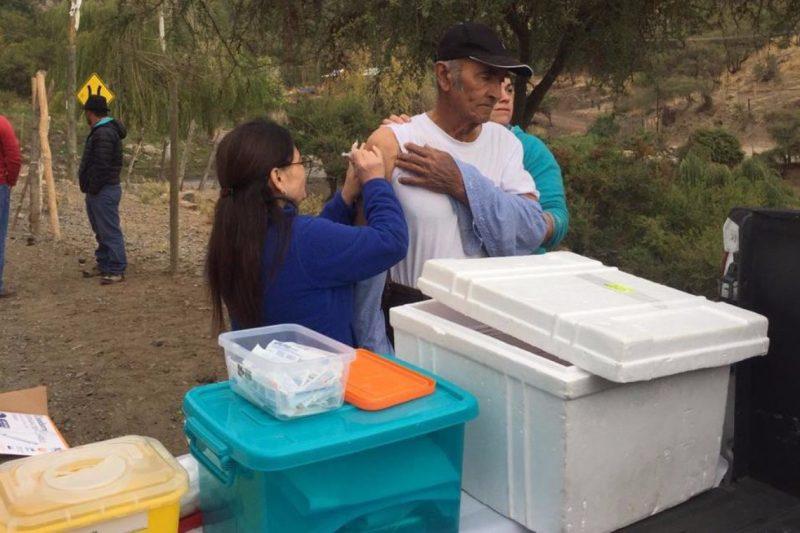 Salud Machalí realiza llamado a vacunarse contra la Influenza especialmente a los adultos mayores de 65 años