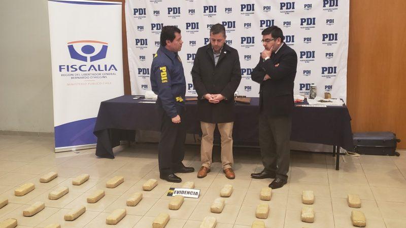 PDI O'Higgins incauta 58 kilos de droga