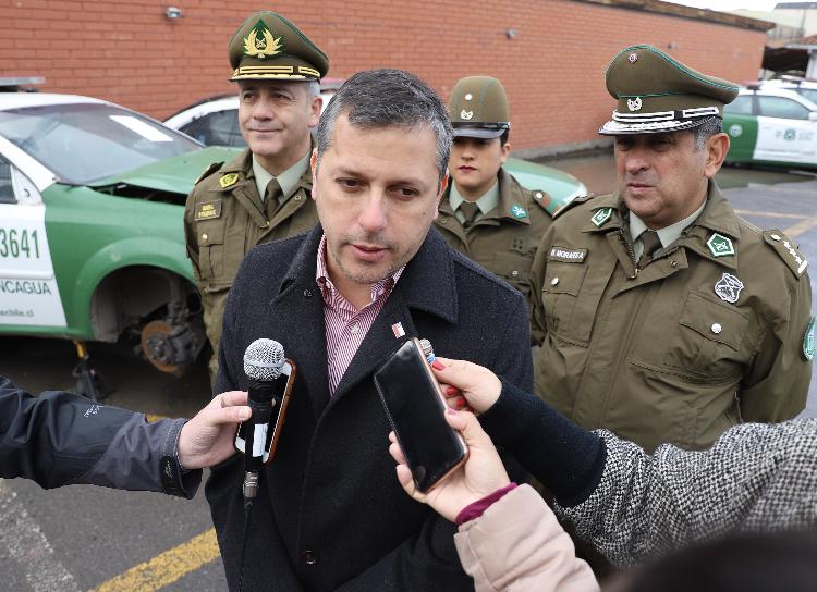 Intendente Masferrer anuncia que enviará proyecto para comprar 42 vehículos nuevos para Carabineros