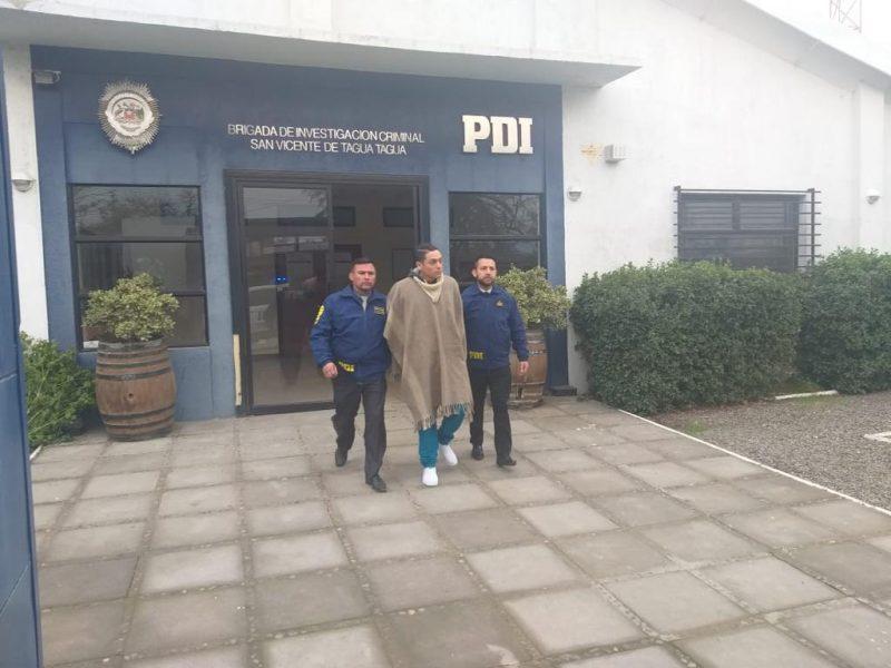 San Vicente: PDI detiene al presunto autor de robo con violación