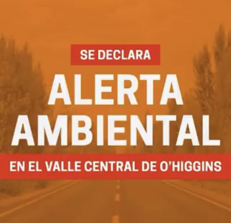 Alerta Ambiental este jueves en Machalí, Rancagua y todo el valle central de O'Higgins