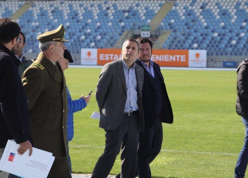 Intendente inspeccionó las medidas de seguridad del Estadio El Teniente para partido O'Higgins v/s Colo-Colo
