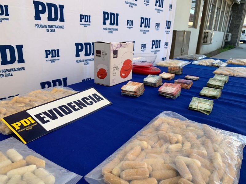 Incautan 9 kilos de cocaína en ovoides y detienen a 14 personas