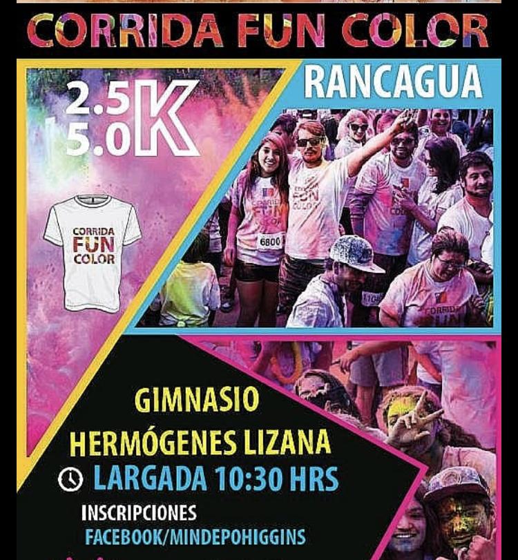 """Corrida """"Fun Color"""" nuevamente estará en las calles de Rancagua"""