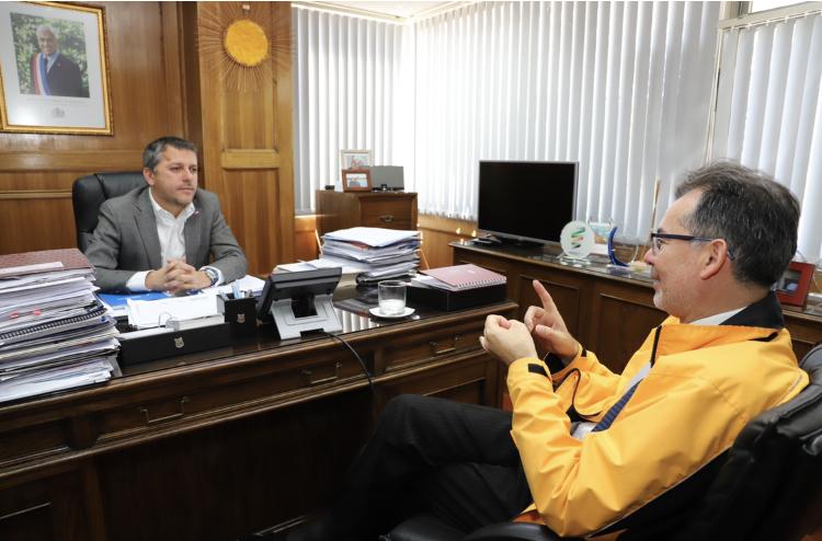 O'Higgins: Intendente Masferrer se reúne con el Director Regional del INDH