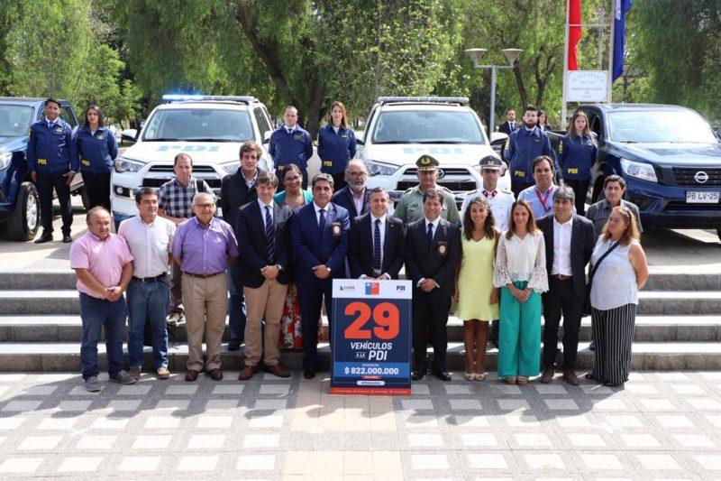 O'Higgins: Gobierno Regional entregó 14 nuevos vehículos a la PDI