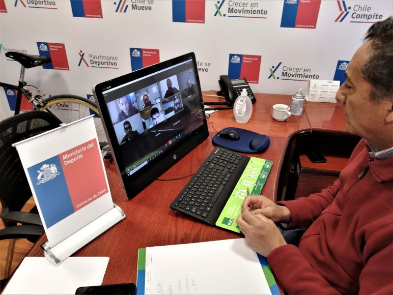 """""""Mesa virtual del Deporte"""" inició sus sesiones  para conversar del plan comunal de actividad física"""