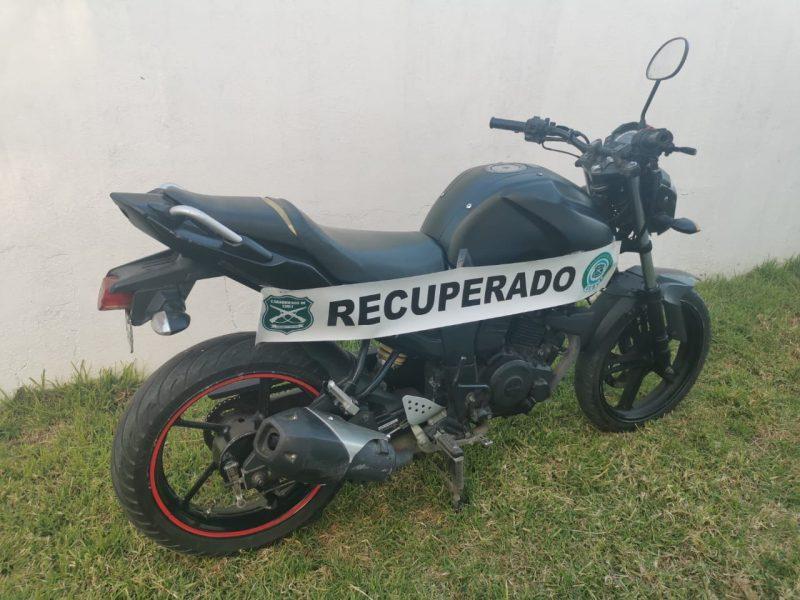 Dos motocicletas logró recuperar Carabineros en la última semana