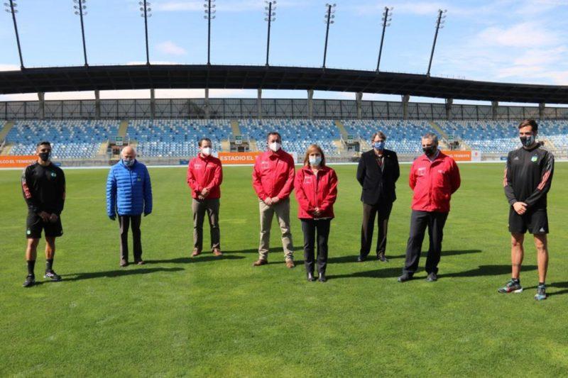 Autoridades nacionales y regionales dieron el visto bueno al regreso del Futbol en el Estadio El Teniente